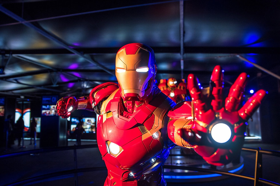 Iron Man display from the Marvel exhibition held at ExCeL