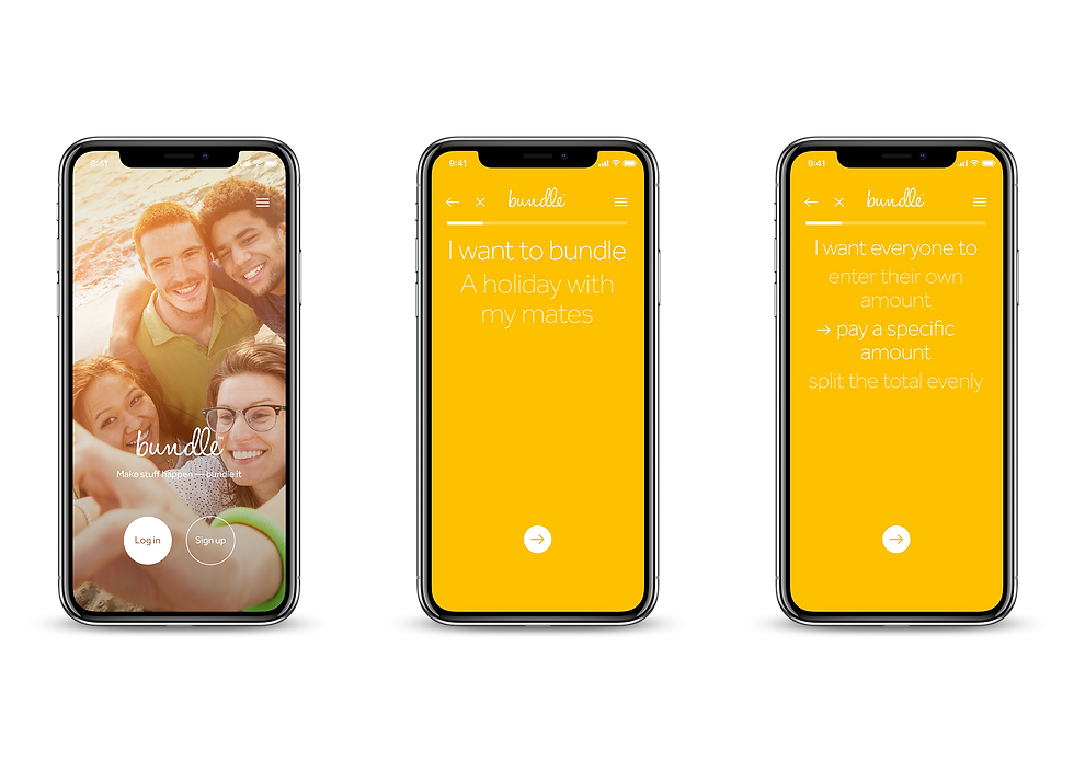 Mobile app designs shown in an iPhone