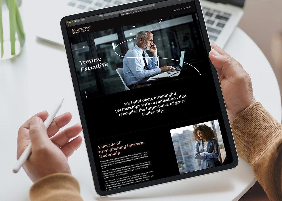Executive product page on iPad