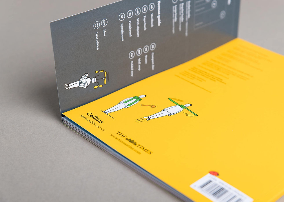 Inside view of the extended cover bookmark