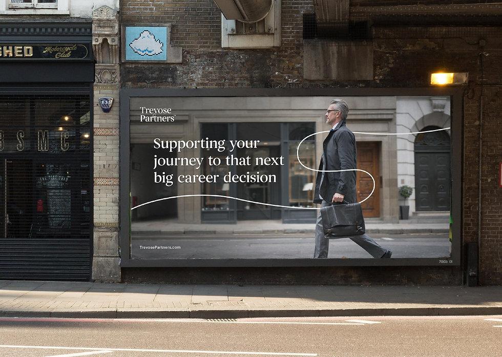Billboard design in London street