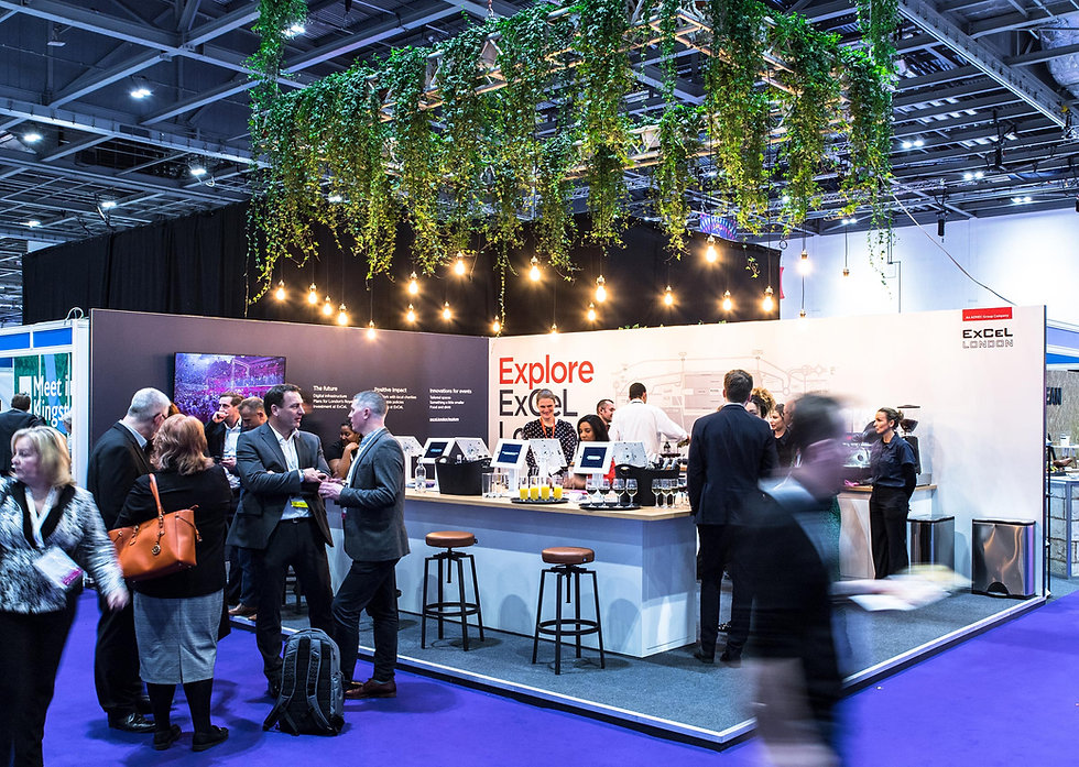 Busy ExCeL London stand at Confex