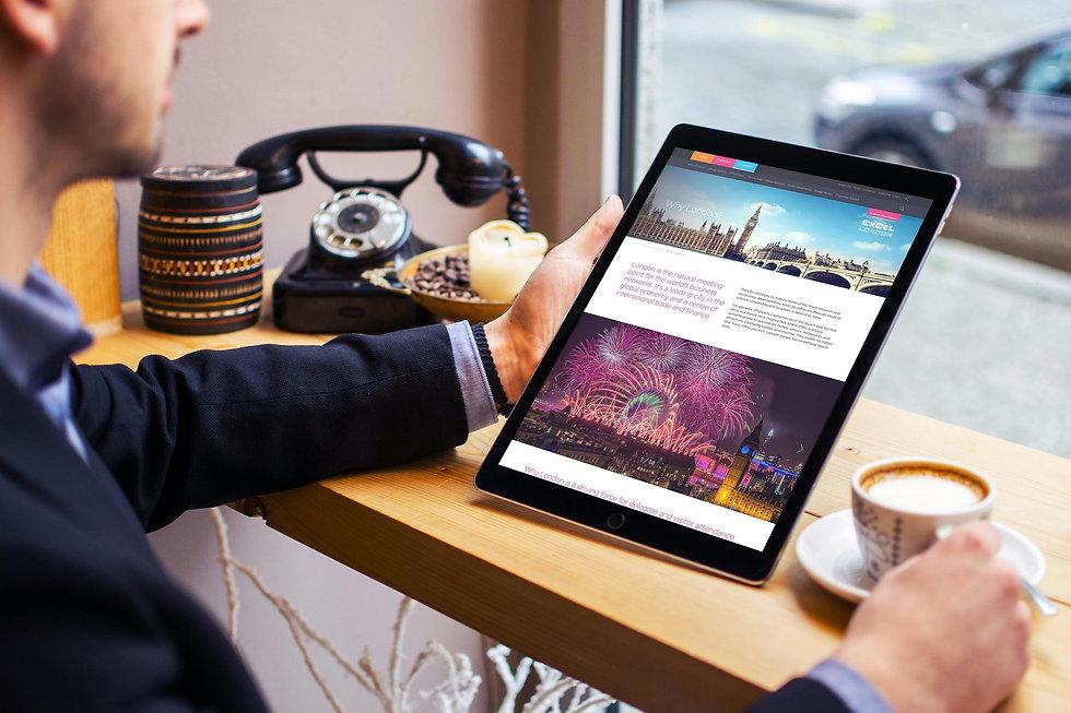 Tablet design for excel.london website