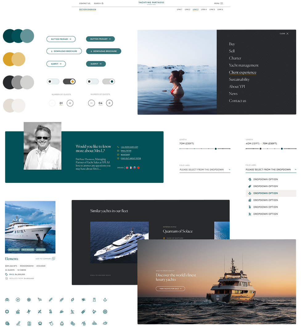Snapshot of part of the digital design system created for the website and future digital systems