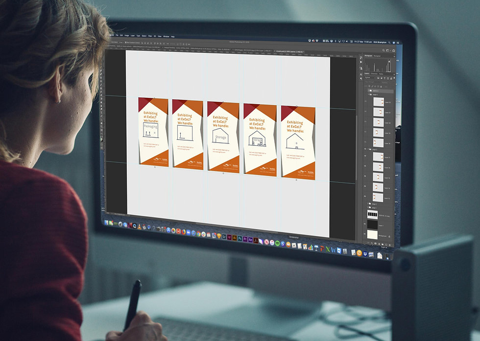 Integral designer working on animation for one of the adverts