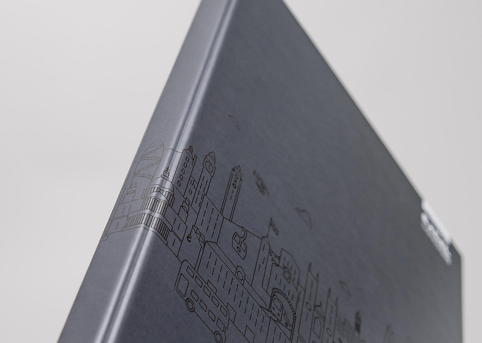 Spine of new bespoke ExCeL London folder