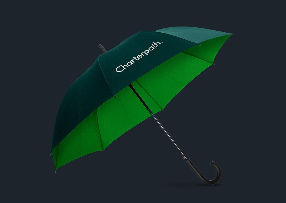 Charterpath branded umbrella