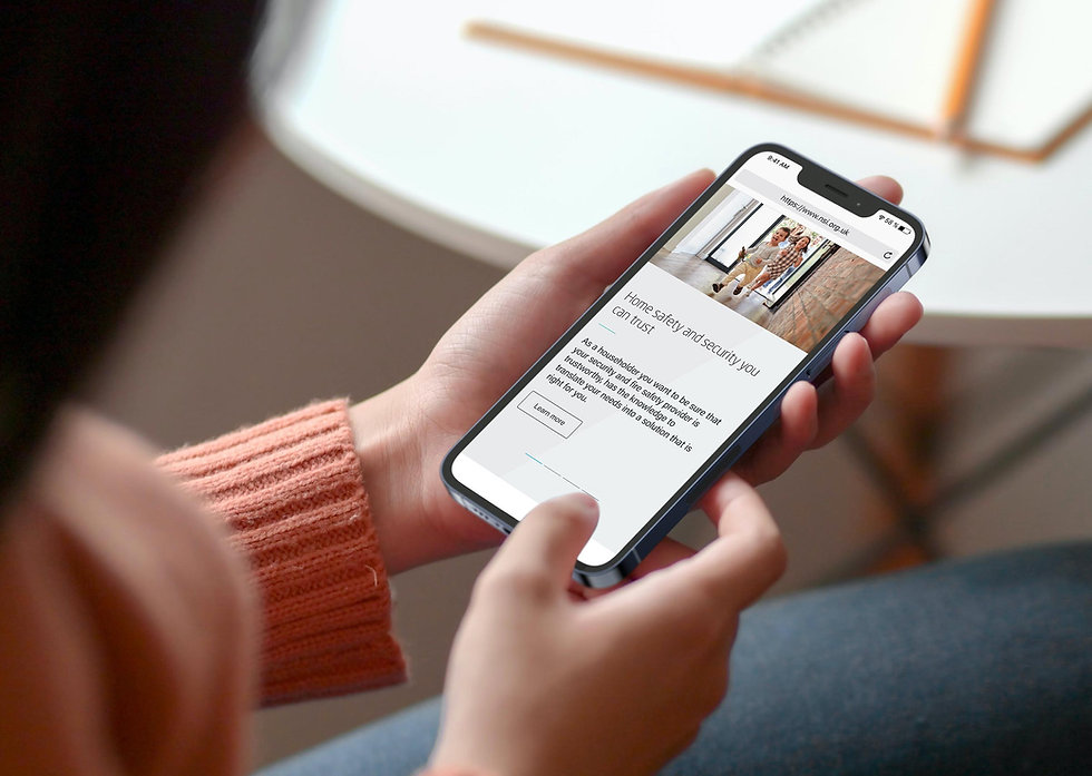 New NSI website mobile design shown on iPhone