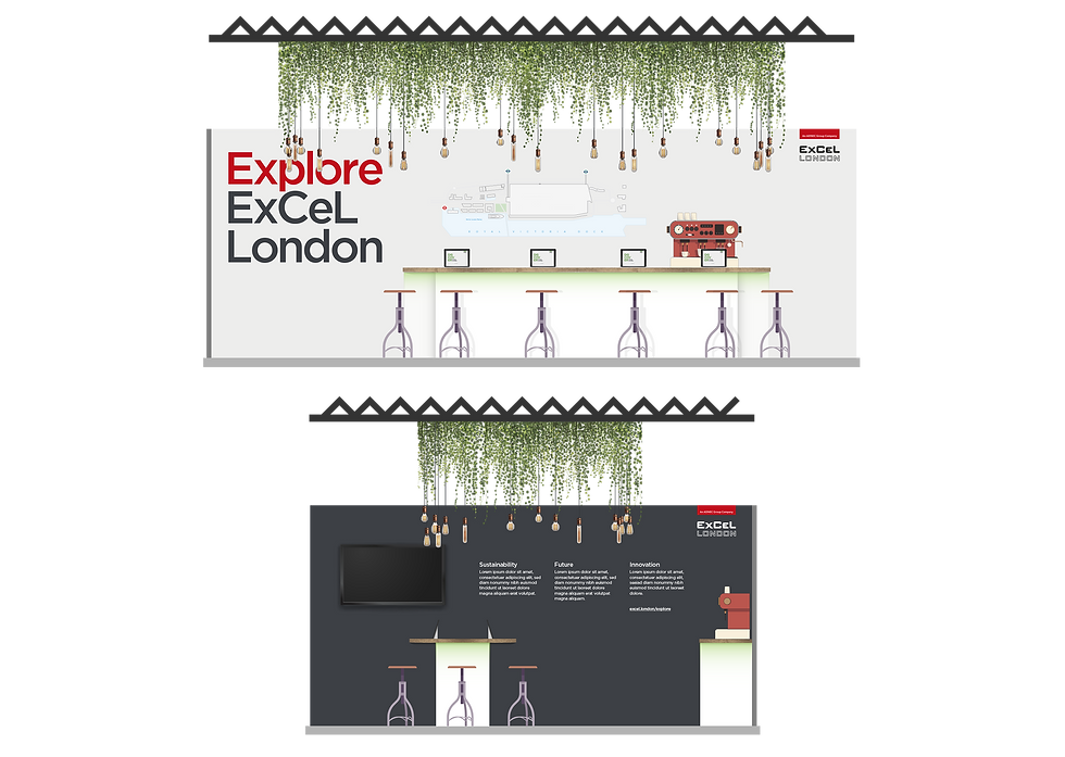 Colour renders of the ExCeL London stand design