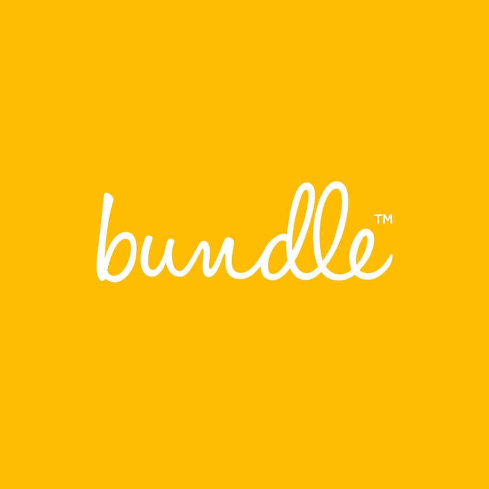 bundle logo on yellow background