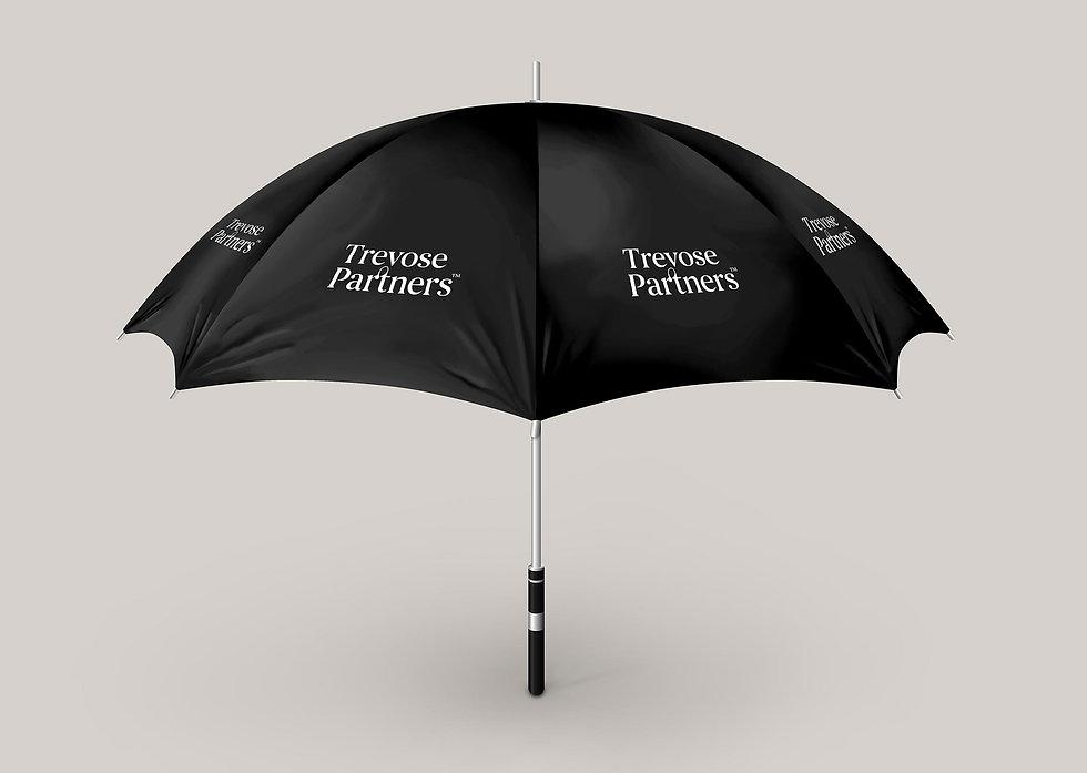 Trevose Partners branded black umbrella