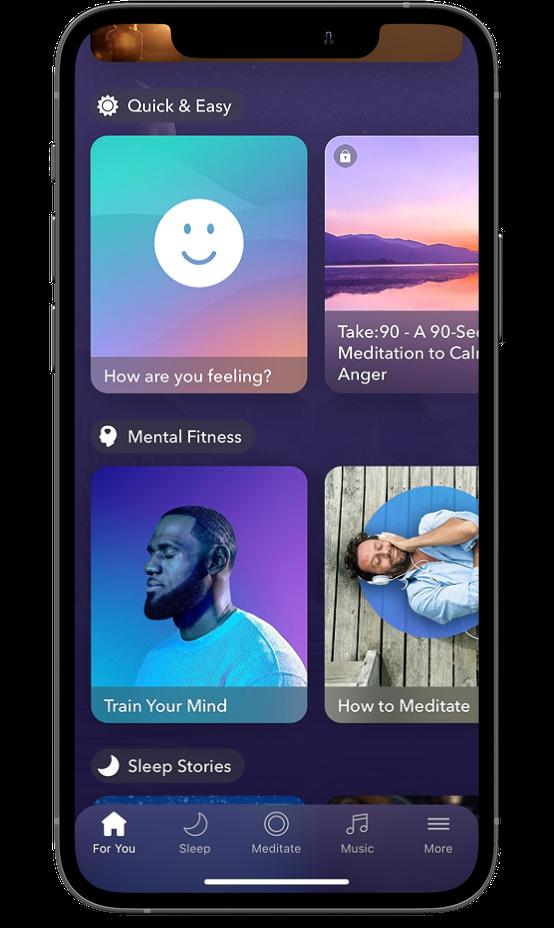 Calm screen on an iPhone 12