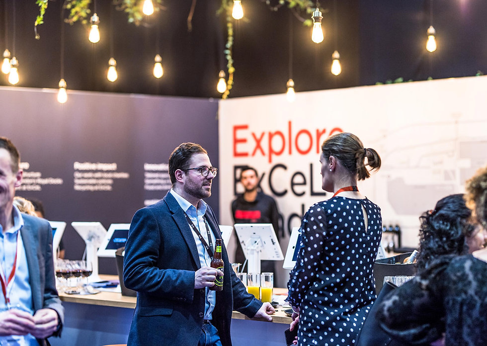 People networking on the ExCeL London stand