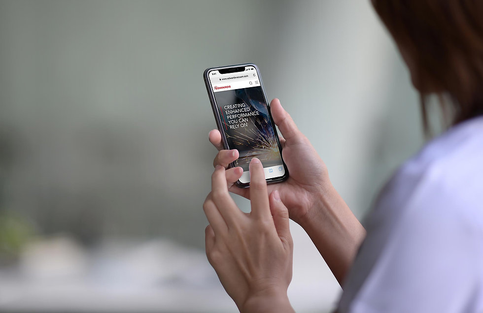 User viewing concept design on an iPhone