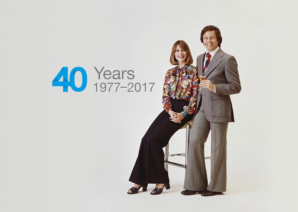 Shot of 70's business people wearing amusing 70's fashion