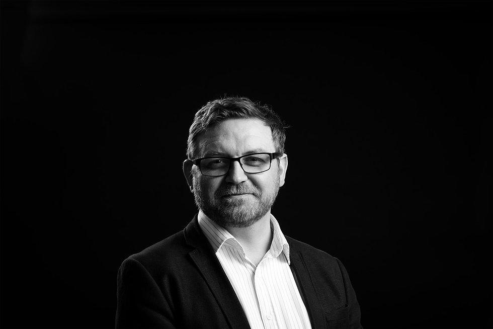 Black and white portrait for Architect client