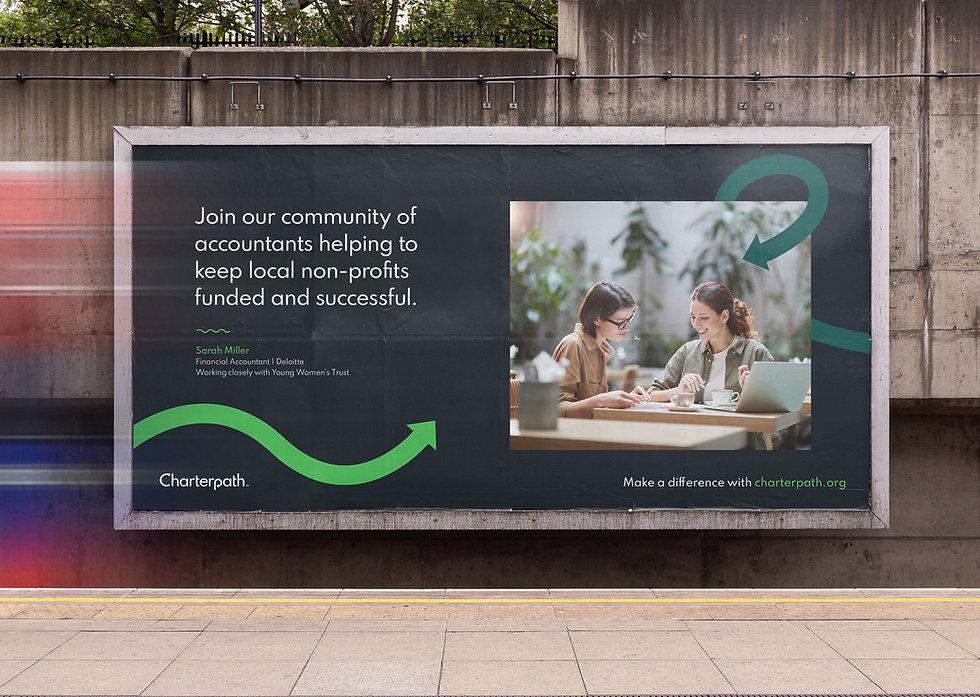 Billboard design on London DLR station