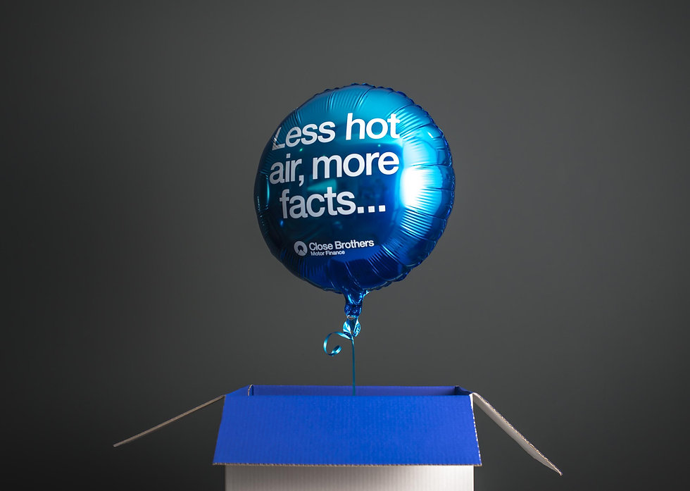 Balloon rising out of the campaign box, this is how all recipients would see the campaign