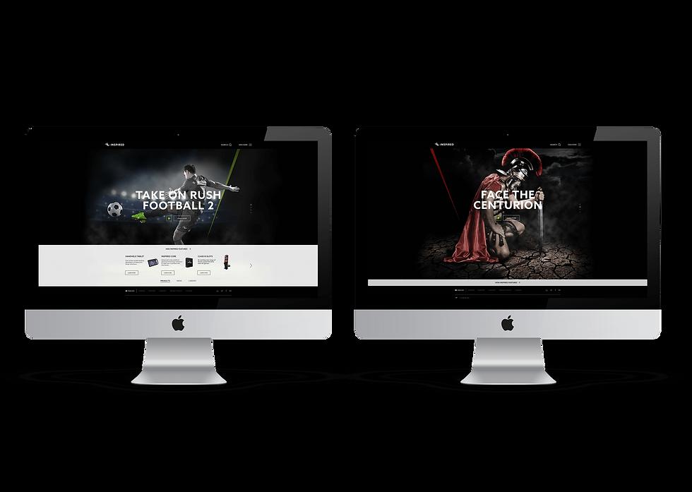Inspired website concept desktop views on iMacs