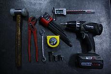 Verschillende soorten gereedschappen. Assemblage.