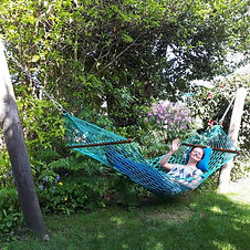 Our hammocks - perfect for rest and relaxation.