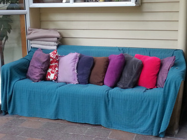 Our outdoor couch.