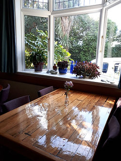 Foley Towers dining room - table by Tom.