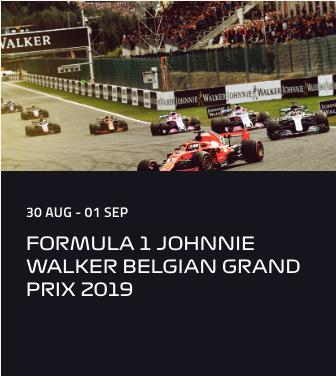 FORMULA 1 JOHNNIE WALKER BELGIAN GRAND PRIX 2019 (30 Aug - 01 Sep)