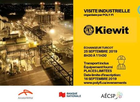 Première visite industrielle de la session d'automne 2019