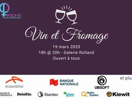 ÉDITION 2020 : Vin et Fromage