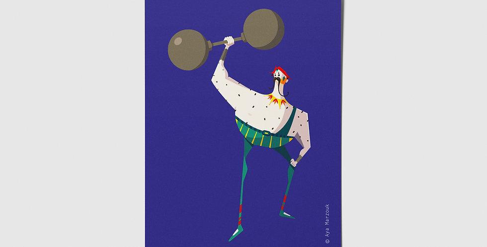 Circus Lifter Postcard