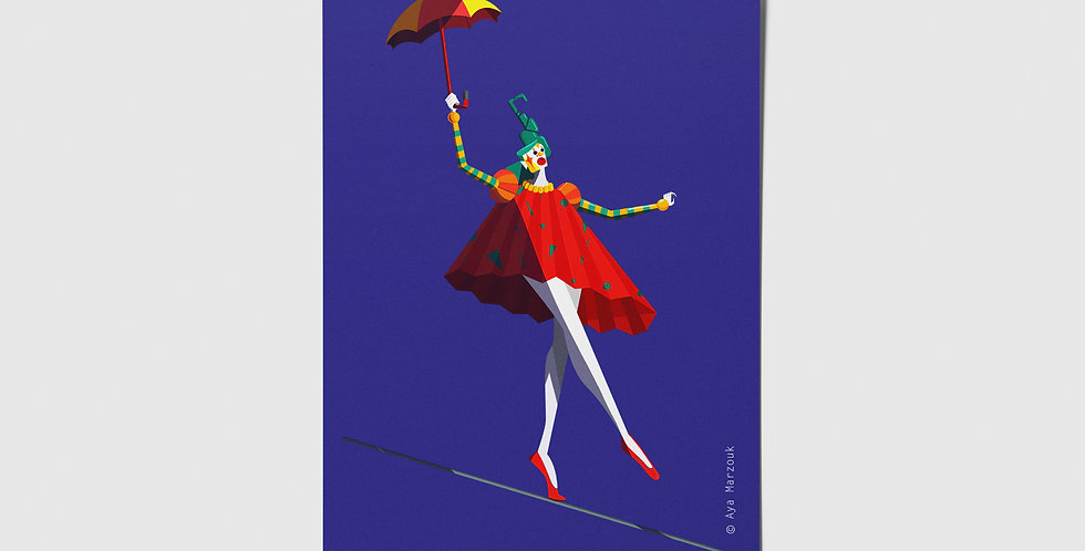 Circus Performer Postcard