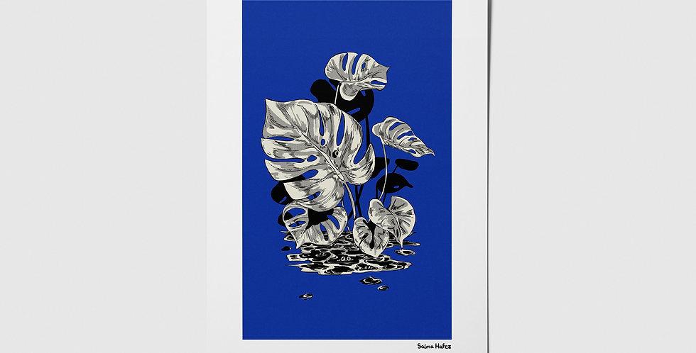 Friendly Critters BLUE Postcard