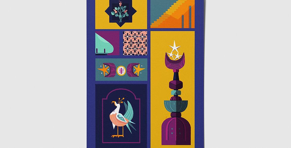 Arabian Pattern 02 Postcard