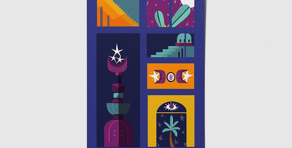 Arabian Pattern 01 Postcard