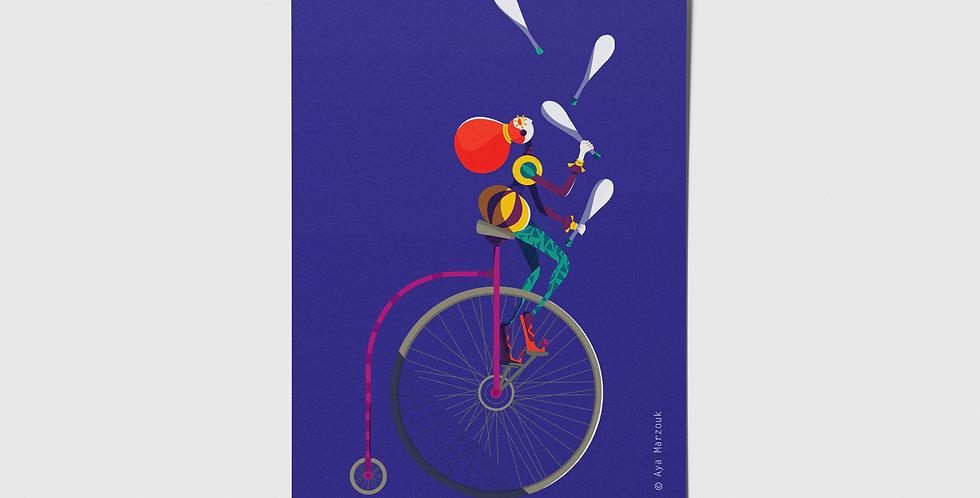 Circus Juggler Postcard