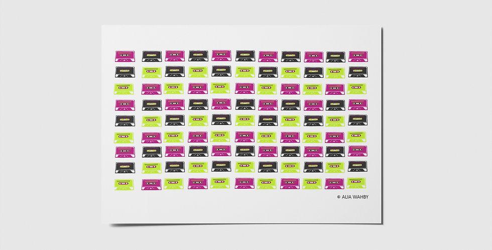 Cassettes Postcard