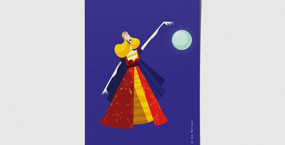 Circus Enchantress Postcard