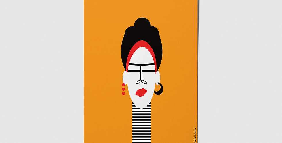 Quirky Lady Postcard