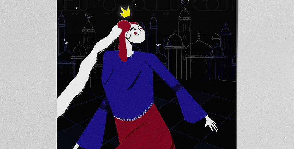 Fairytale Princess (Black) Poster