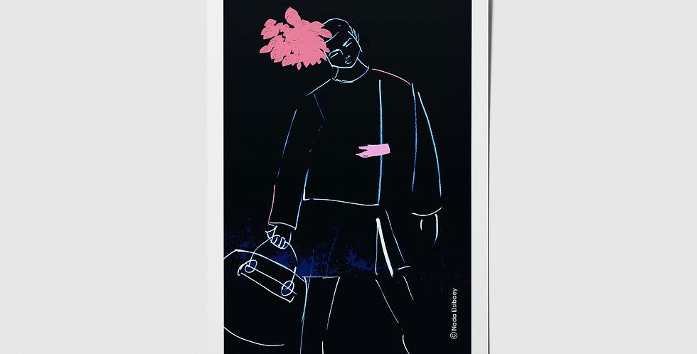 Fashion Illustration 04 Postcard