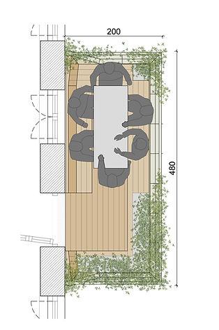 Ein Wienbalkon über 2 Fensterachsen biete ausreichend Platz zum Feiern und gärtnern.
