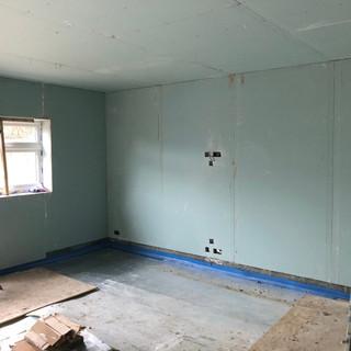 Plasterboarding