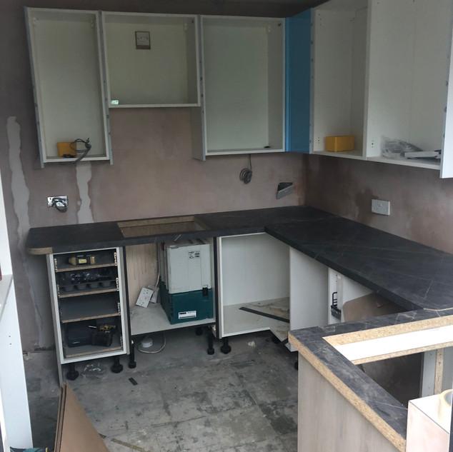 Start of kitchen build