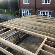 Extension timber roof