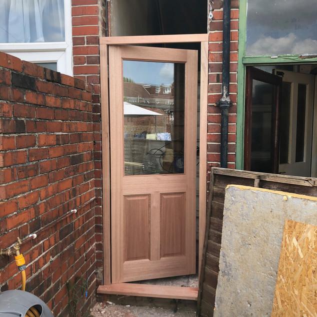 Timber back door