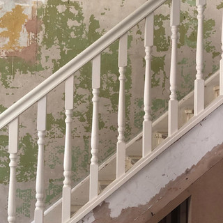 New handrail and spindles