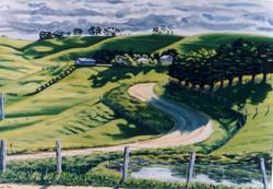 Bass Hills Winter Light Oil on Canvas