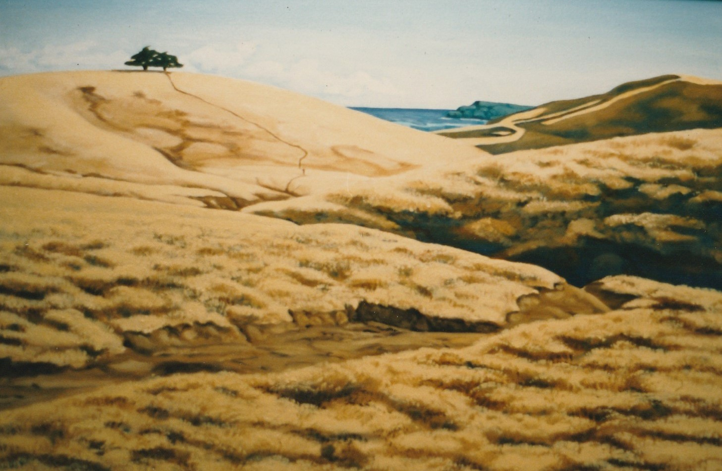 Bare Hills Oil on Canvas