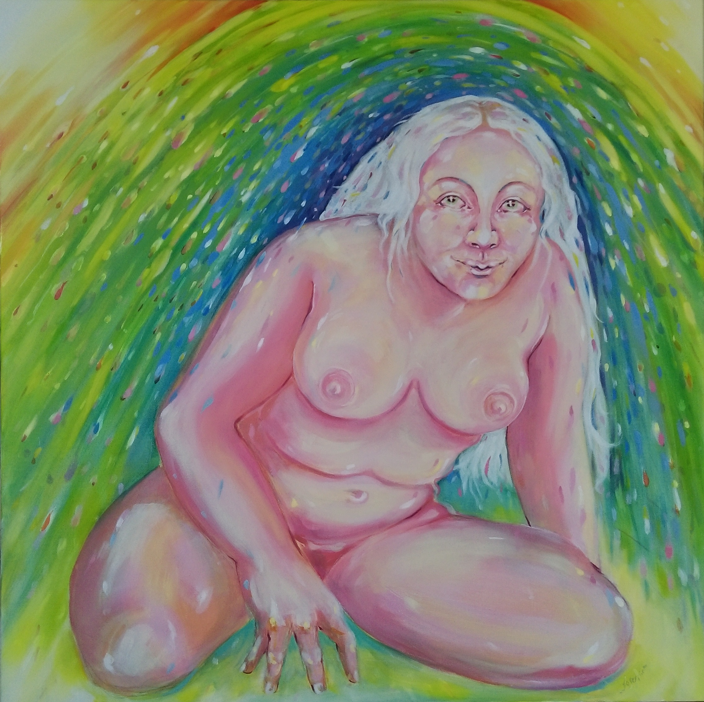 Josephine Kent Rabboni Oil on Canvas 80 x 80cm 2016